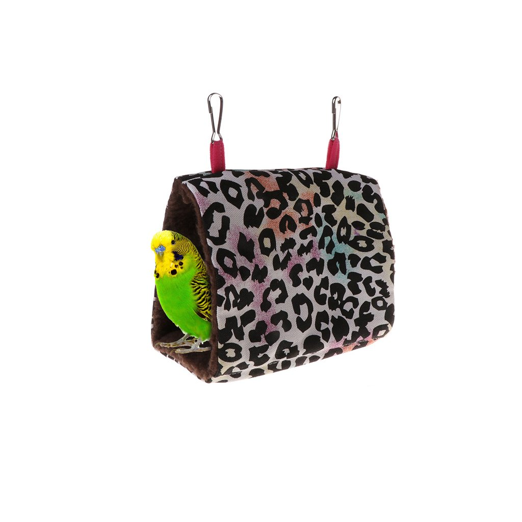 Stebcece Bird Hammock Hanging Snuggle Cave Happy Hut Bird Parrot Hideaway 3#)