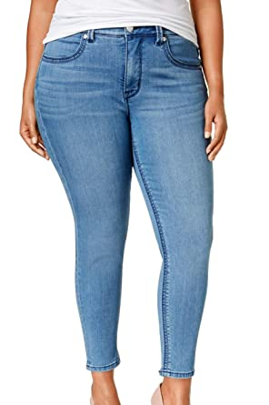 d5fa5bc8e0e5e Image Unavailable. Image not available for. Color  Melissa McCarthy Seven7  Womens Plus Slimming High Rise Pencil Jeans ...