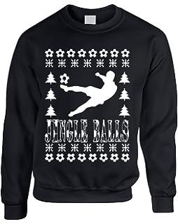 b2bf133f9a Allntrends Adult Sweatshirt Jingle Balls Soccer Ugly Xmas Sport Fans Present