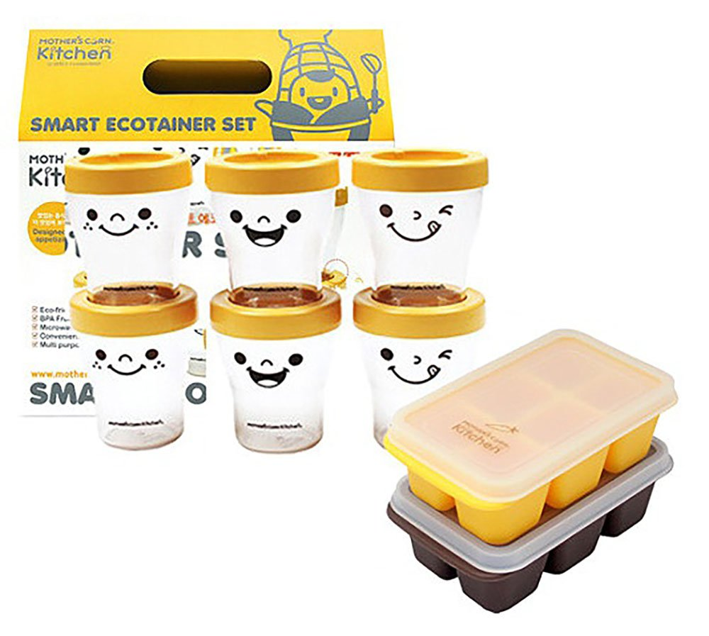 Baby food container set Baby Food Silicone Freezer Tray ECO Corn starch fermentation by MOTHER,S CORN (Image #1)