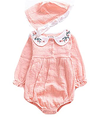 704acda3d1b3 LOOLY Infant Baby Girls Twins Long Sleeve Ruffle Rompers Bodysuits Outfit  Clothes Pink