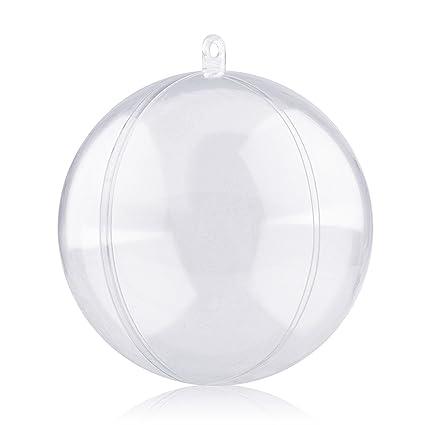 Amzdeal Bolas De Navidad Forma Redonda Plastico Transparente Para - Bolas-de-navidad-transparentes