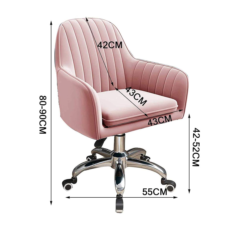 GAOPANG svängbar ergonomisk uppgift kontorsstol mitten av ryggen datorbordsstolar med bekväm ländrygg stöd 96 kg kapacitet, sitthöjd: 42–52 cm Rosa