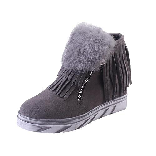 Botines Tacon de Cuña para Mujer Zapatos Plataforma por ESAILQ C: Amazon.es: Zapatos y complementos