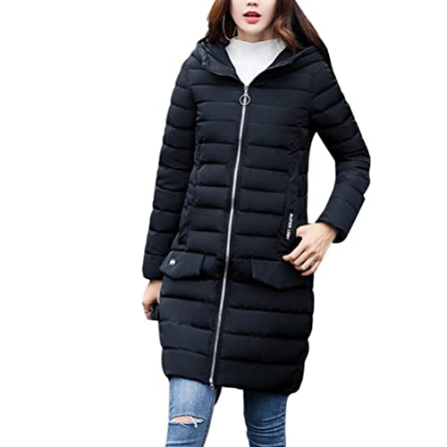 Zhhyltt Caliente para el invierno Winter New Women Fashion Hooded Body Ladies Thin Down Jacket Cotto...