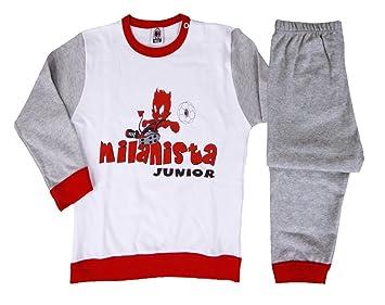 Vêtements Enfant Bébé Diable pyjama officiel AC MILAN   19425 Taille unique  blanc gris 4c4b84fd400