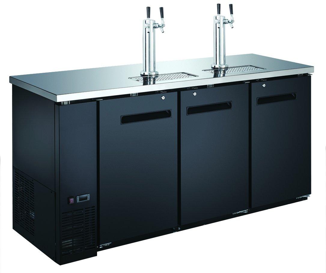 72'' 3-Door Commercial Beer Dispenser - Double Tower Keg Cooler - Kegerator UDD-24-72 by Unknown