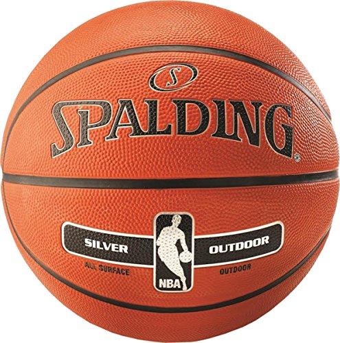 SPALDING NBA Silver Outdoor Basketball (7) - Brown