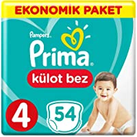Prima Külot Bebek Bezi 4 Beden Maxi Ekonomik Paket, 54 Adet