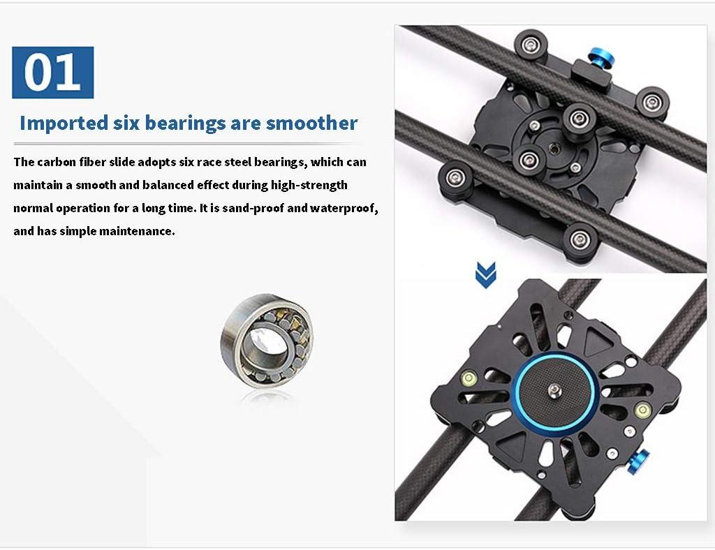 DV Cameras Maximum Load 10kg 6 Bearings Slider Carbon Fiber Camera Track Video Recording Video Stabilizer Easy to Carry for Mobile Phones SLR Cameras