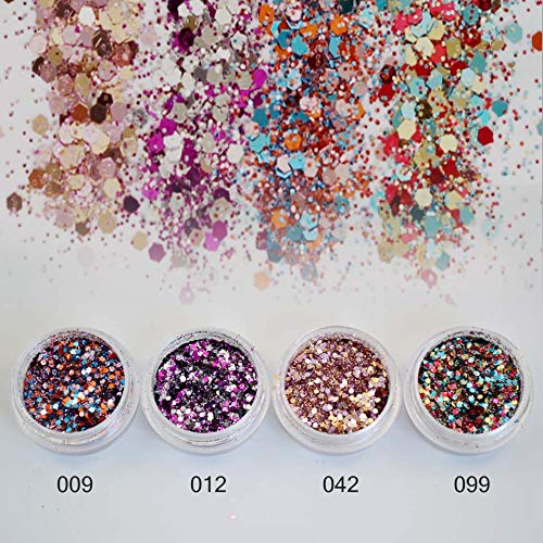 Glitter Nail - Mix Sequins for Nail Art Fine Glitter Powder for Nails Colorful Spangles for Nails Glitter Dust Paillettes Gold Powder Sf2026]()