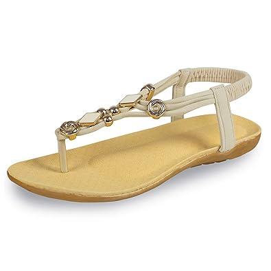 b6d828d60 Women's Flat Sandals Soft Casual Sandals for Women Beach Wear Comfort Thong  Style in Summer or