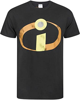 Disney Incredibles 2 Logo Black Men/'s T-Shirt New