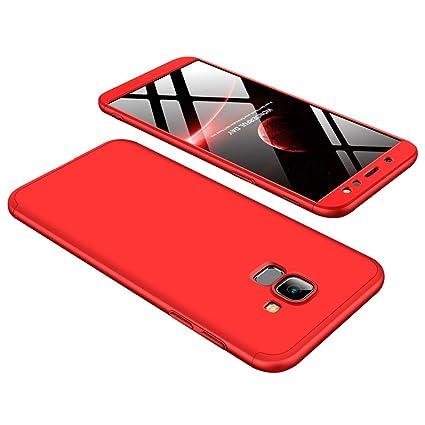 JMGoodstore Funda Samsung Galaxy A6 2018,Carcasa Galaxy A6 2018,Funda 360 Grados Integral para Ambas Caras+Cristal Templado,[360°] 3 in 1 Slim Fit ...