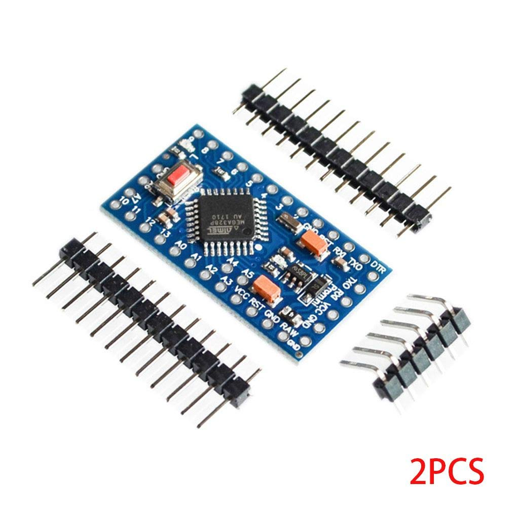 2PCS PRO Mini ATMEGA328P-AU 5V 16MHz Development Board Mikrocontroller Kompatibel f/ür Arduino