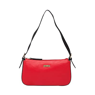 ESBEDA Red Black Color Solid Pu Synthetic Material Hand Bag For Women   Amazon.in  Shoes   Handbags 6219630d67