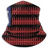 American Flag Ammo USA Neck Warmer Microfiber Headwear Face Mask Scarf