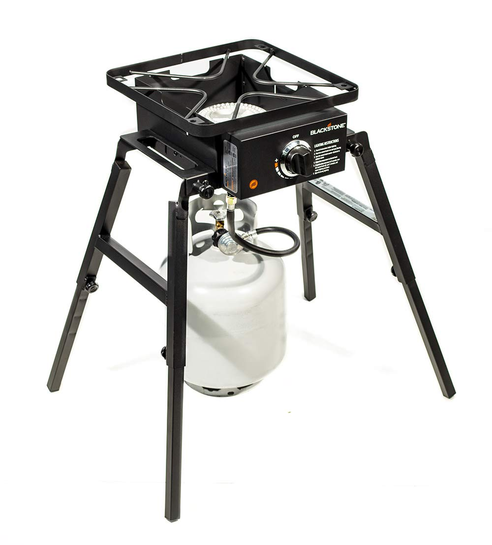 Blackstone Single Burner Camp Stove – Portable – Adjustable Legs for Uneven Terrain – Anywhere Stove