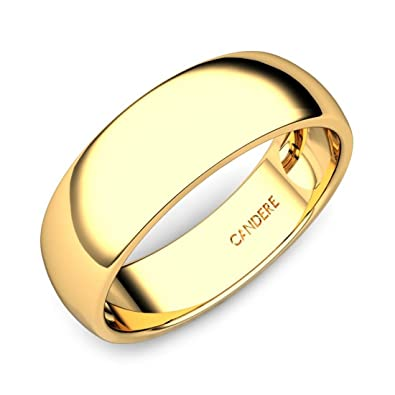 Buy Candere By Kalyan Jewellers 22kt Yellow Gold Ring For Men At Amazon In