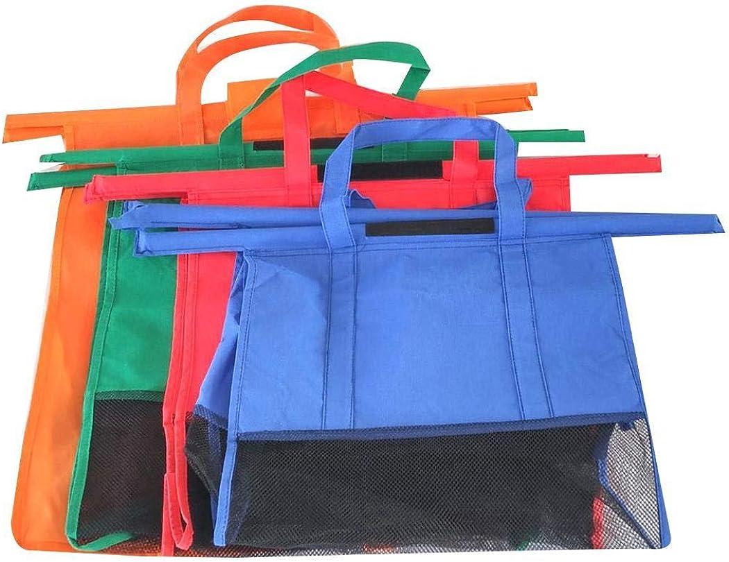 Langle Reusable Large Capacity Foldable Solid Supermarket Handbag Shopping Bags Shopping /& Merchandise Bags
