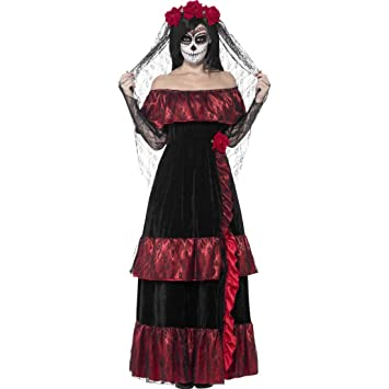 Gothic Brautkleid Sugar Skull Kostüm S 36/38 Dia de los Muertos ...