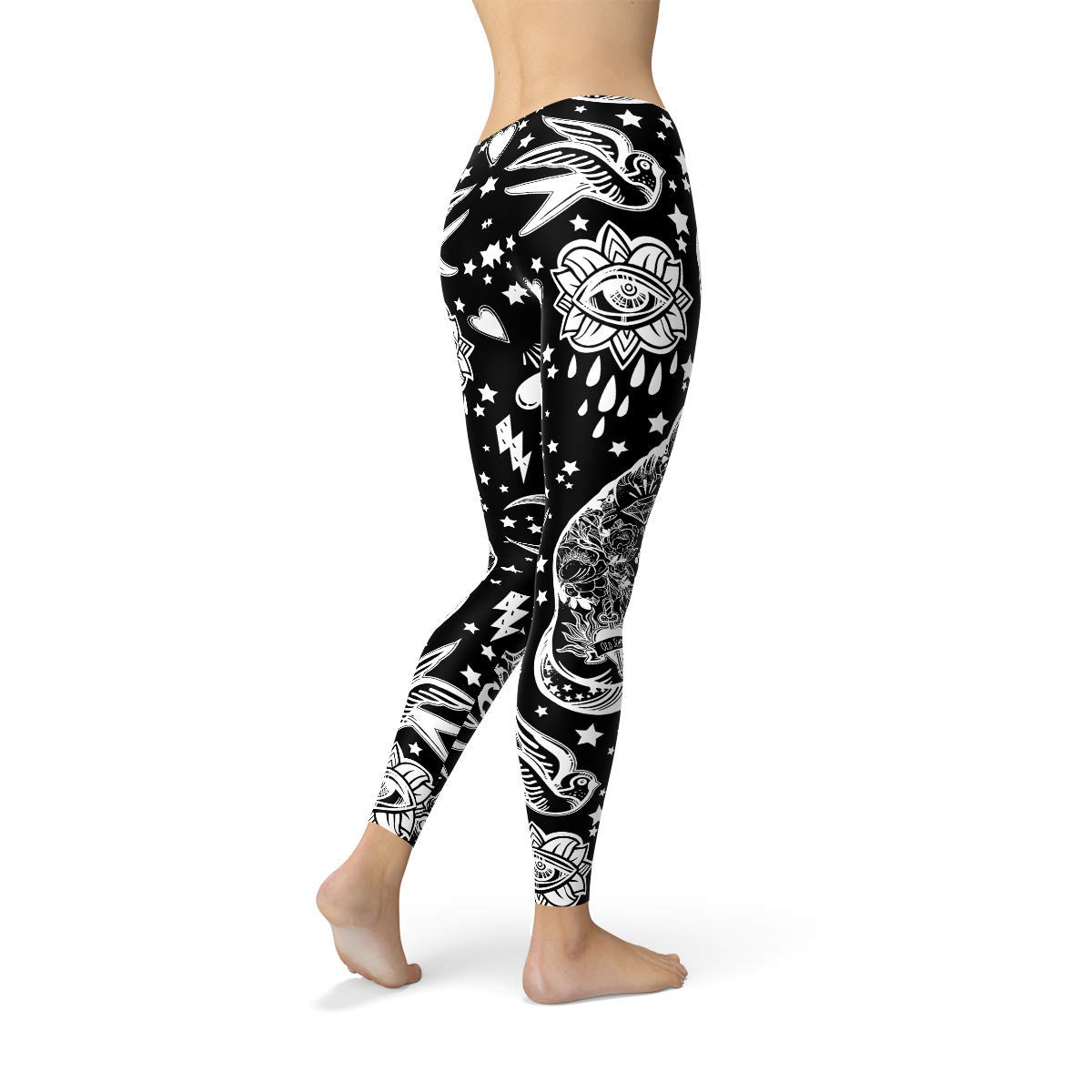 768e3f2305f55 Wicked Witch Leggings for Women Witchcraft Gothic Clothing Black Cat Yoga  Pants at Amazon Women's Clothing store: