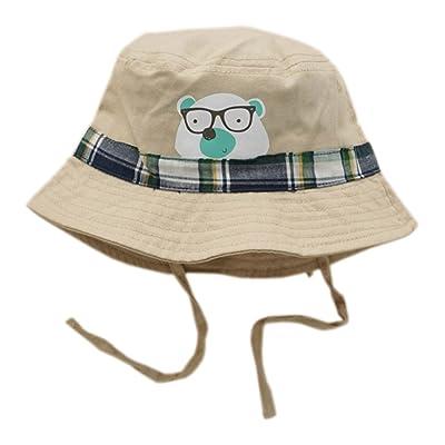 Chapeau d'été/12-24 mois Chapeau bébé avec chapeau brochette à mentonnière Chapeau soleil Khaki #50