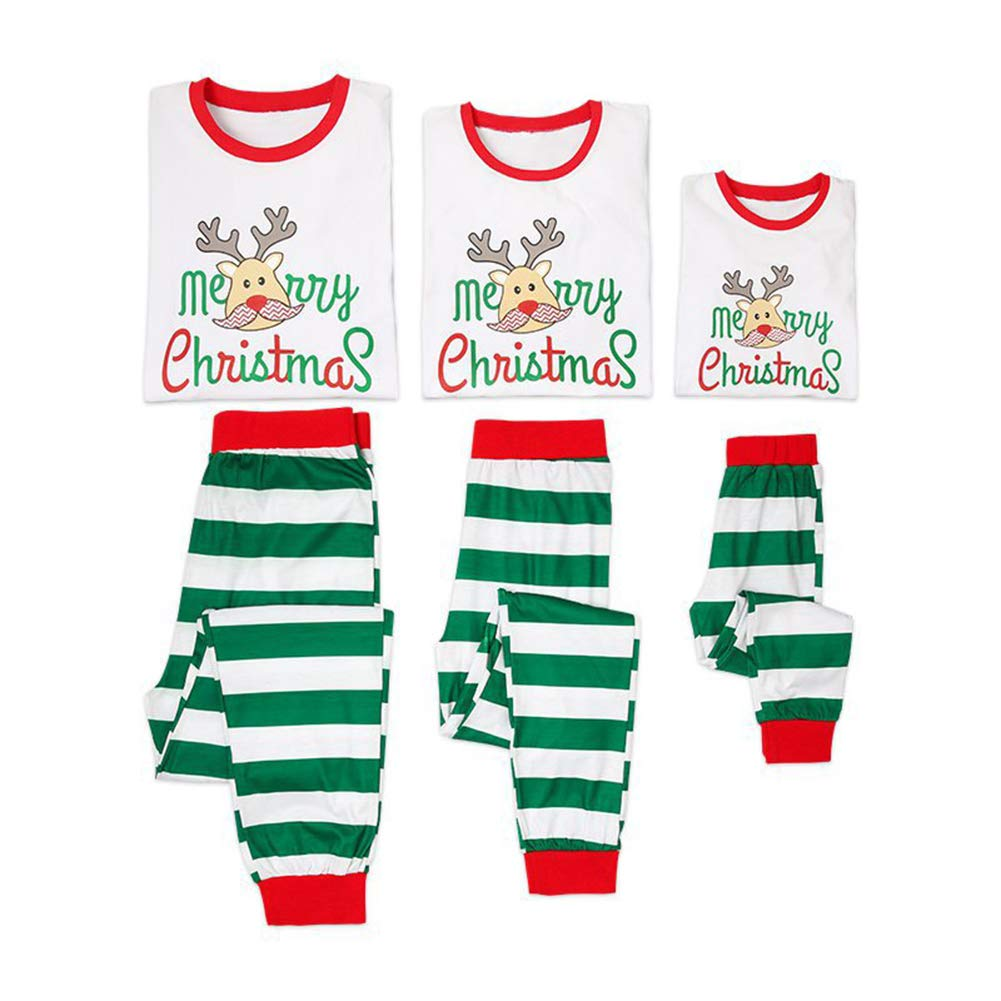 Buon Natale abbinato Famiglia pigiama Set Sleepwear Abiti Natale papà mamma bambini Baby pigiama set shiningup