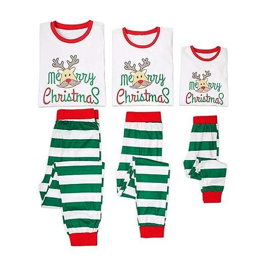 amazoncom family christmas pajamas sets santa long sleeve letter printed sleepwear nightwear parent child family matching outfit clothing