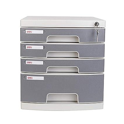 MIAOLULU archivador con cerradura de cuatro capas de plástico de archivo gabinete cajón de escritorio gabinete