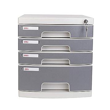 MIAOLULU archivador con cerradura de cuatro capas de plástico de archivo gabinete cajón de escritorio gabinete de almacenamiento: Amazon.es: Oficina y ...