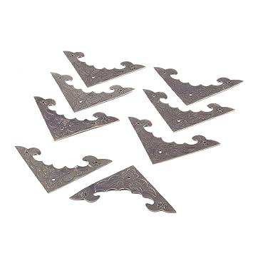 1502407fcad sourcingmap® 8Stk Möbel Tisch Metall Retro Winkel Halter Korne Schutz  Messing DE: Amazon.de: Baumarkt