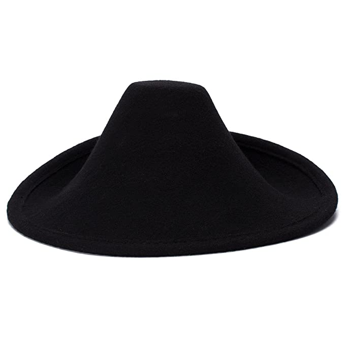 efa6f6699 Lawliet Unique Style Wool Felt Hat Millinery Craft Supply Fascinator Base  A264 (Black)
