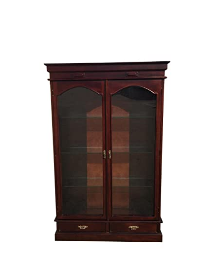 Marvelous D ART Victorian Curio Cabinet In Mahogany Wood