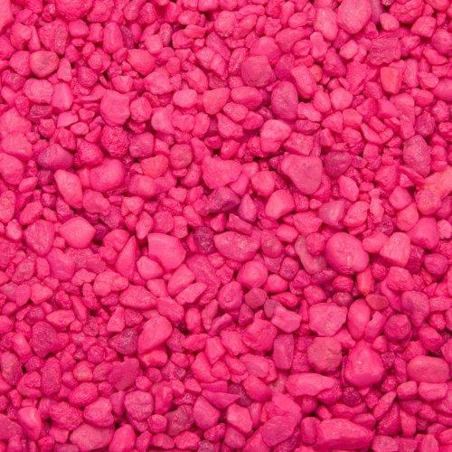Permaglo Gravel - Spectrastone Permaglo Pink Aquarium Gravel for Freshwater Aquariums, 5-Pound Bag