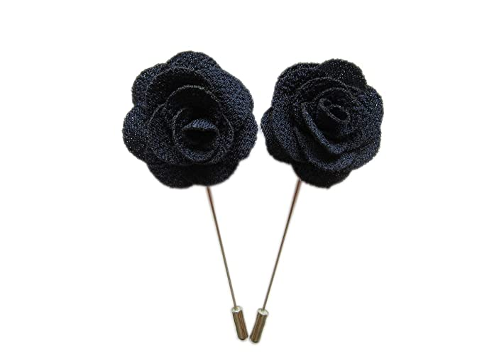 bd25570f665c7 10 pcs Fabric Rose Boutonniere Pins,YYCRAFT Men's Flower Lapel Pins for  Party Business Wedding