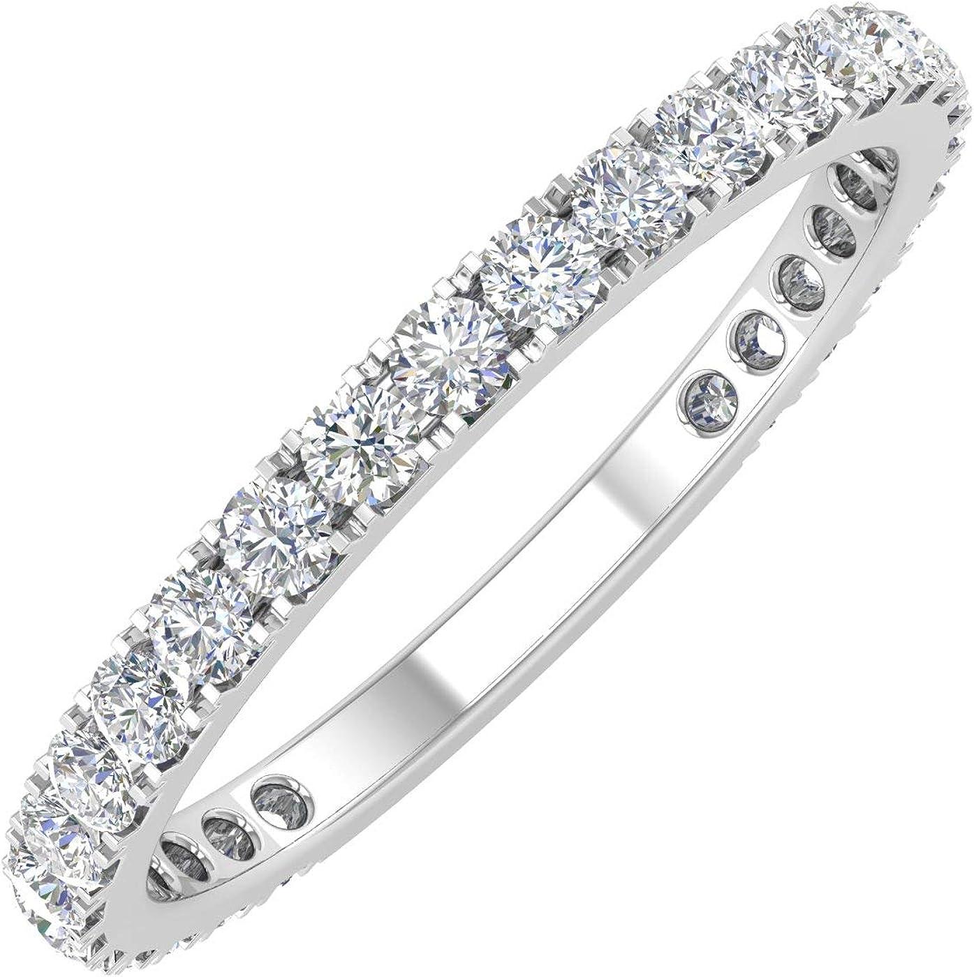 1//2 Carat Diamond 3//4 Eternity Wedding Band in 10k Gold