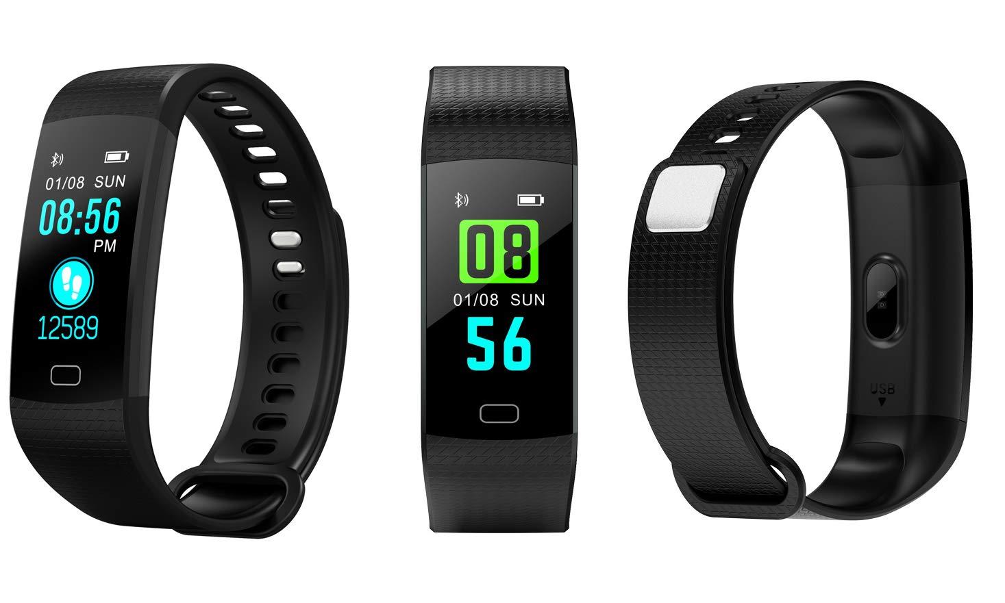 MMTEK-NP 38 Pulsera Actividad con Pulsómetro Mujer Hombre, Monitor de Actividad Deportiva, Ritmo Cardíaco, Impermeable IP67, Reloj Fitness, smartwatch ...