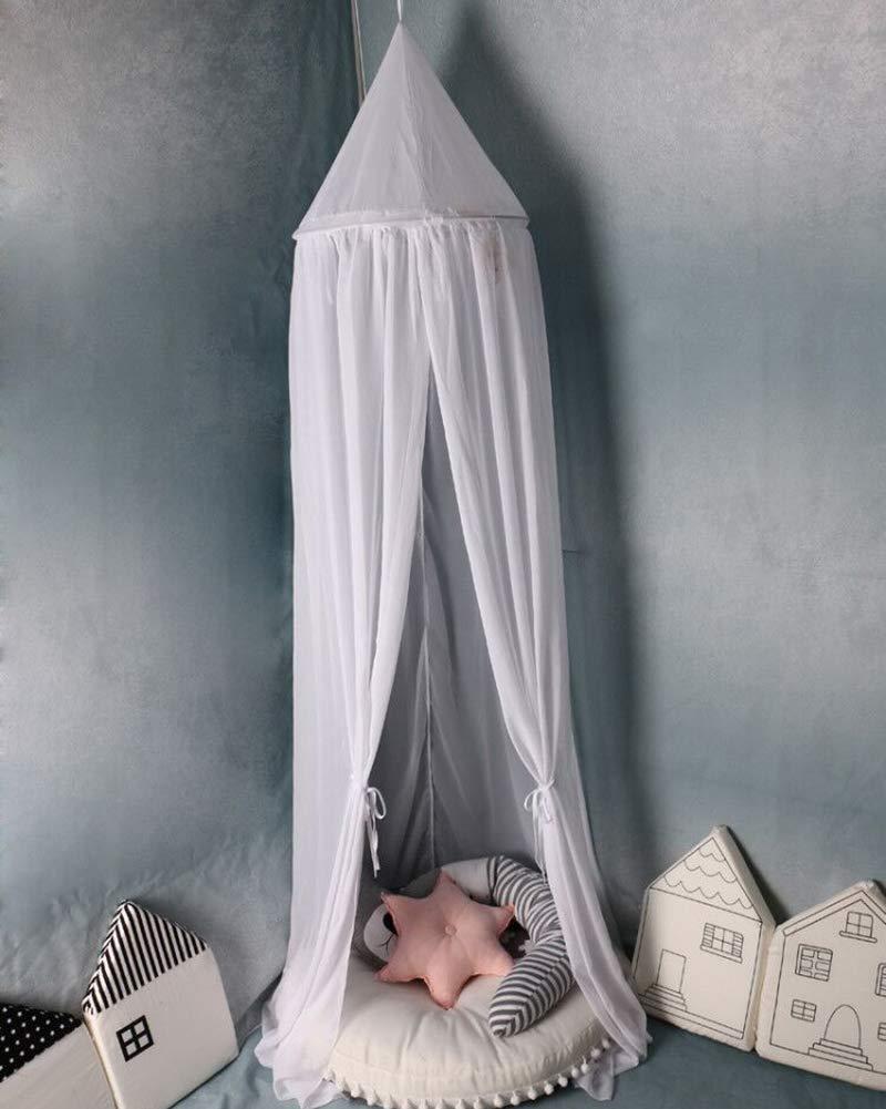 Baby Betthimmel Deko Baldachin M/ückennetz Moskitonetz Insektenschutz f/ür Prinzessin Spielzelte Babybett Schlafzimmer Dekoration Blau