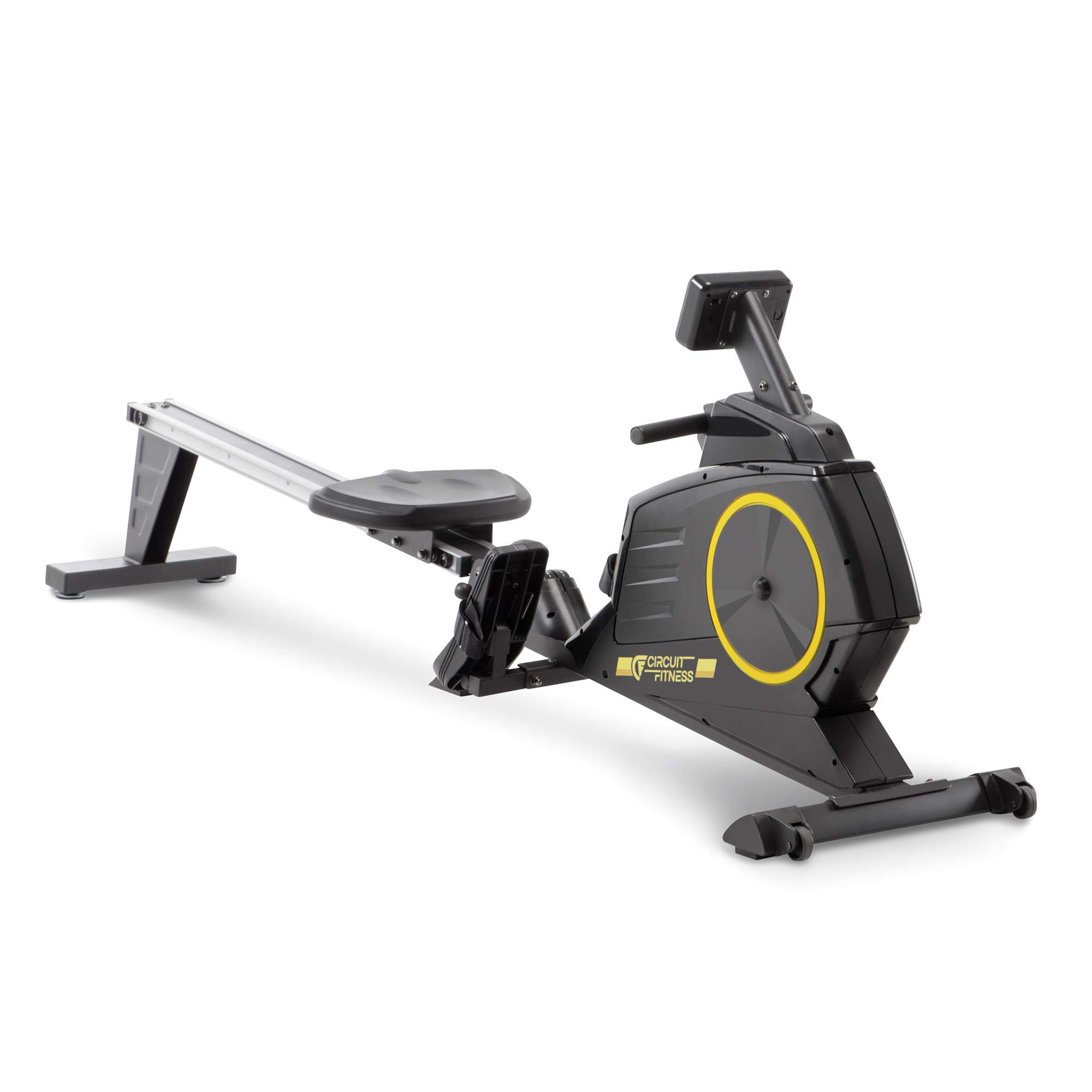 CIRCUIT FITNESS Circuit Fitness Deluxe Foldable Magnetic Rowing Machine with 8 Resistance Settings & Transport Wheels (AMZ-986RW)