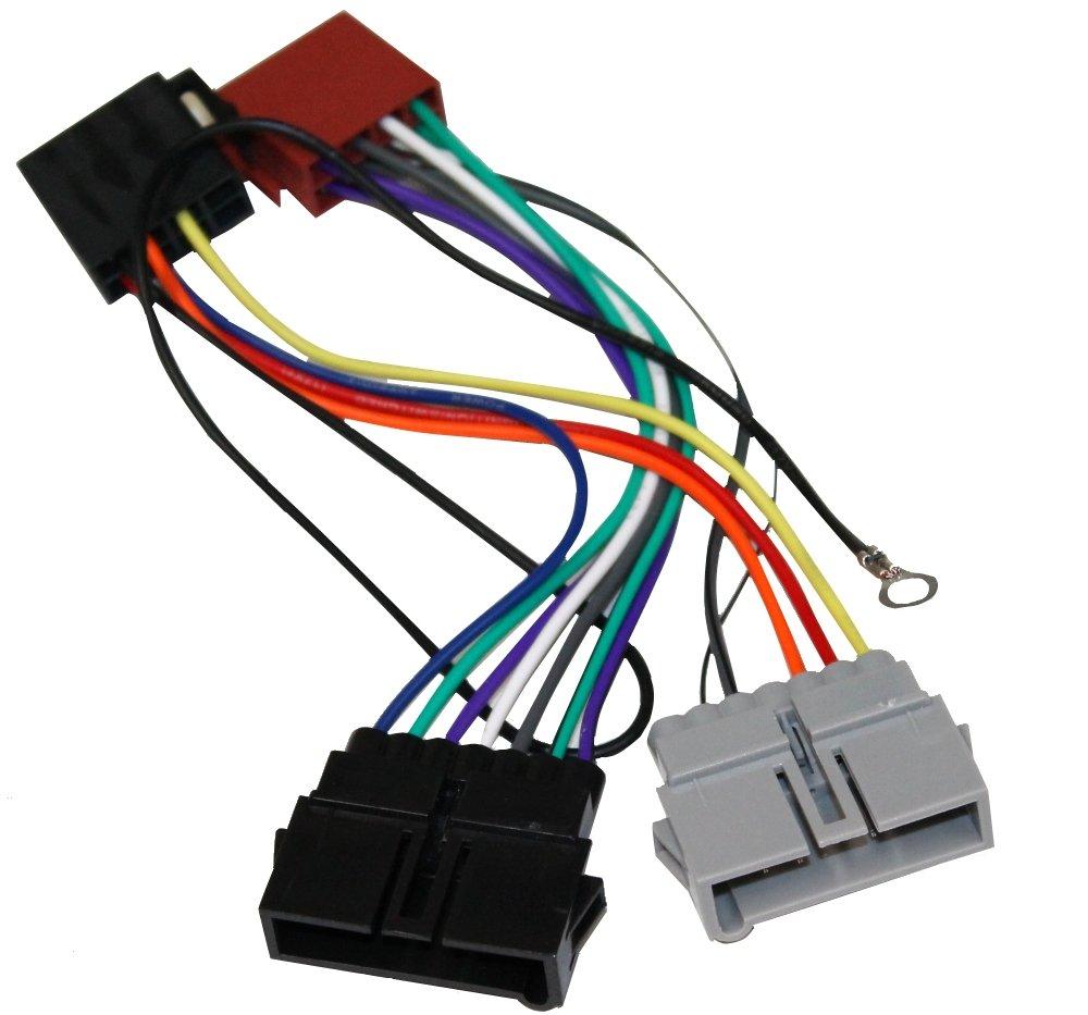 AERZETIX Adaptador AK7 con ISO cables enchufes para autoradio 3800946235682