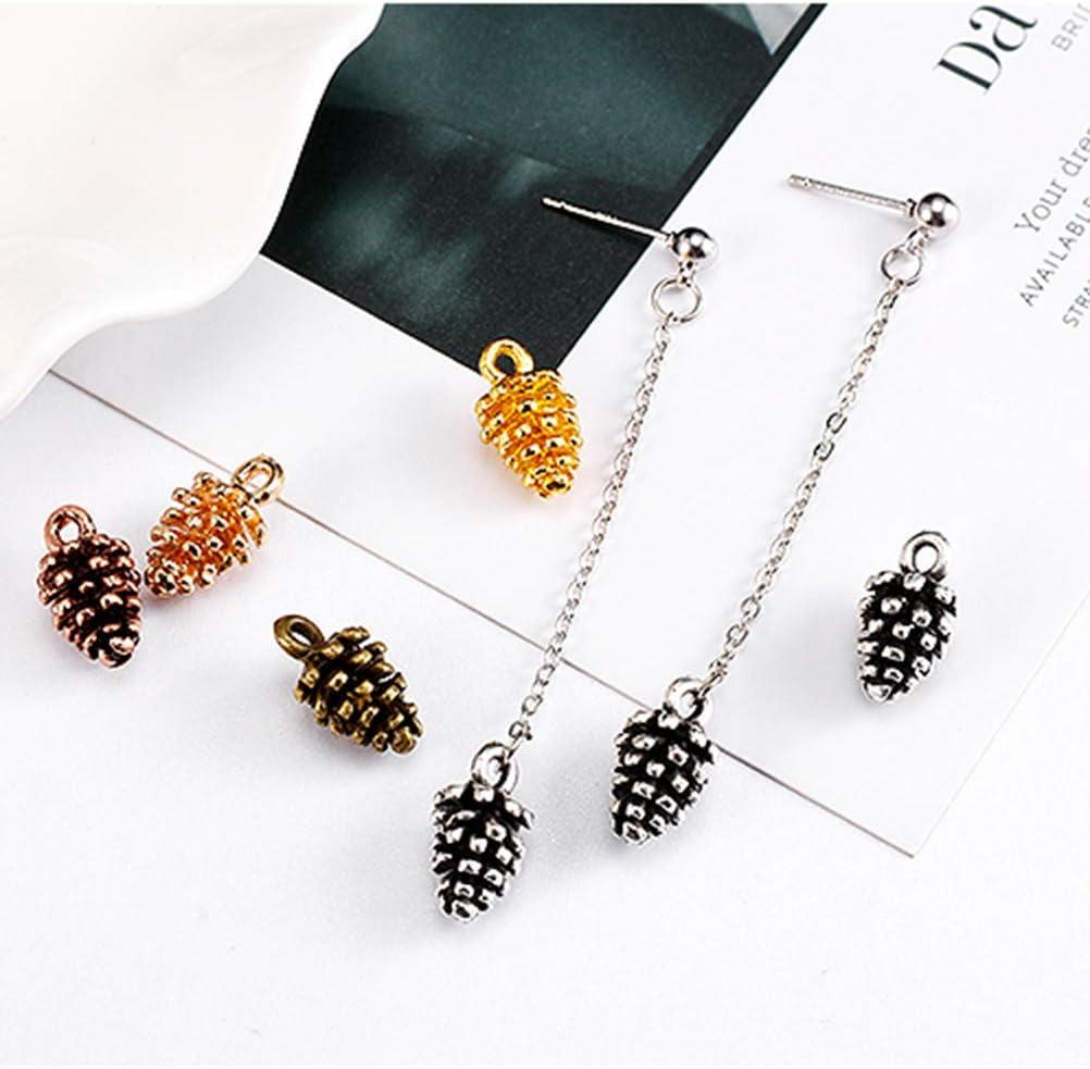 Laiton Antique SUPVOX No/ël Pomme de Pin Breloque de Bijoux Classique pour Bracelet de Bricolage de Bijoux 50PCS