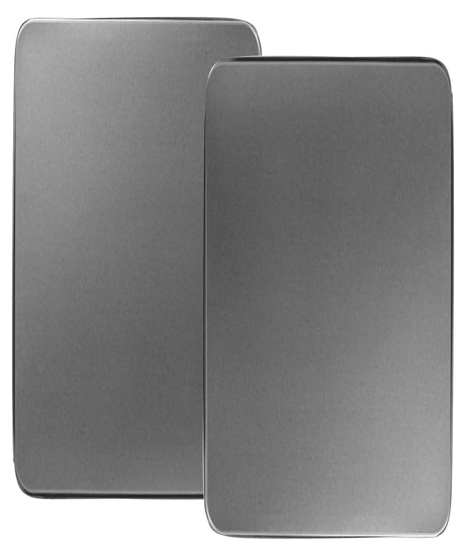 amazoncom reston lloyd corelle coordinates rectangular burner cover stainless steel set of 2 stove burner covers kitchen u0026 dining