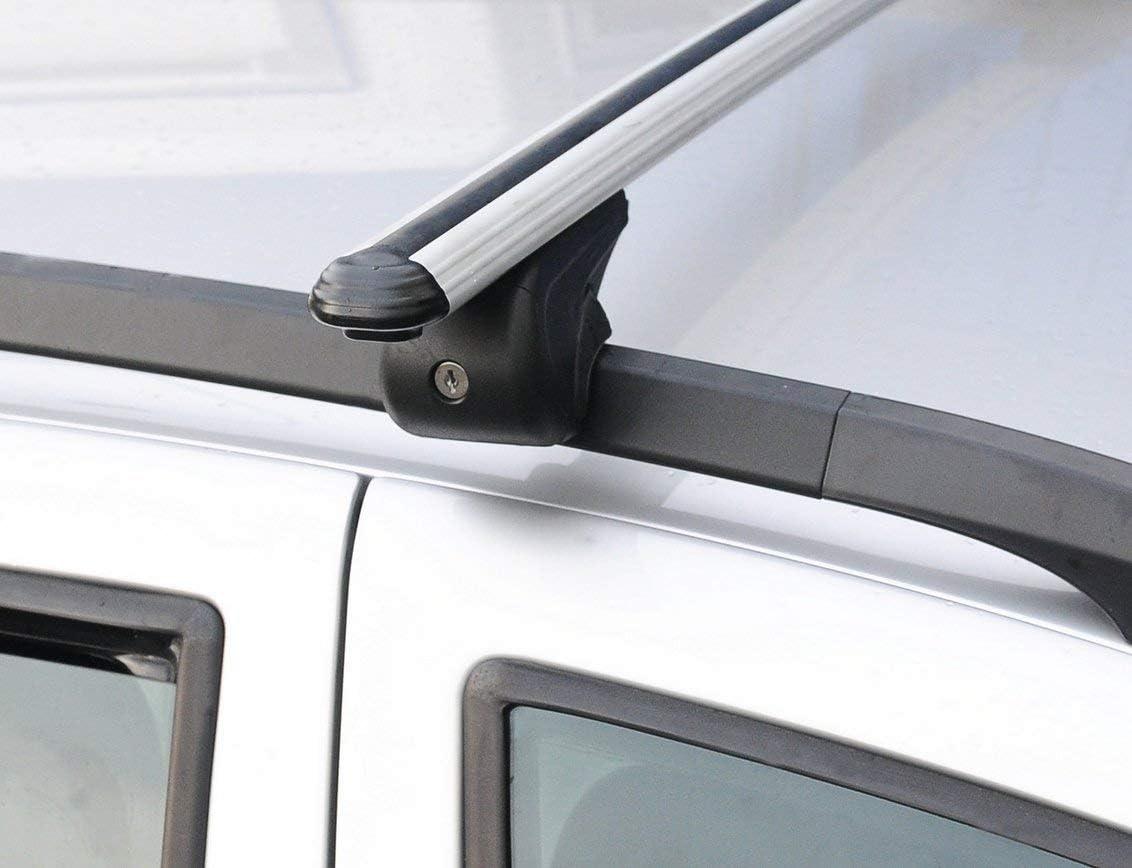 Lockable Top Roof Rack Cross Bar Cross Rail Fit for Hyundai Santa Fe 2001-2012 2 Pcs Aluminium