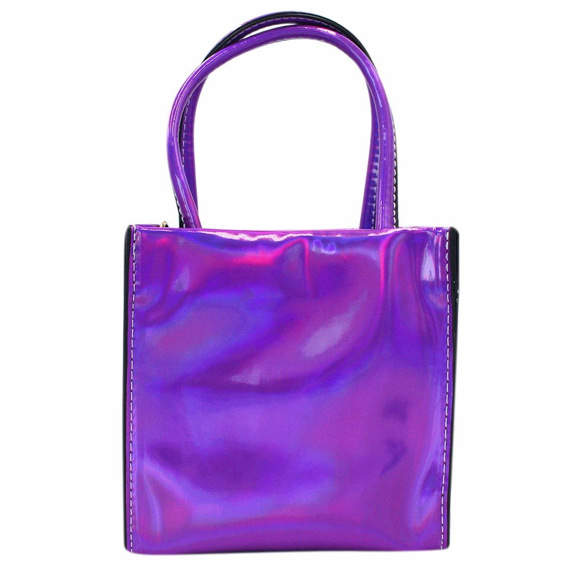 Women Girls Holographic Crossbody Shoulder Bag Small Fashion Tote Handbag Satchel