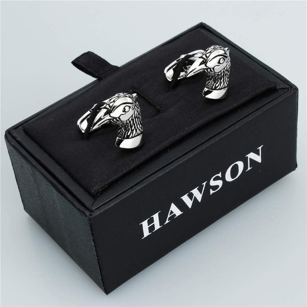 HAWSON Boutons de manchettes personnalis/és pour homme Th/ème animaux