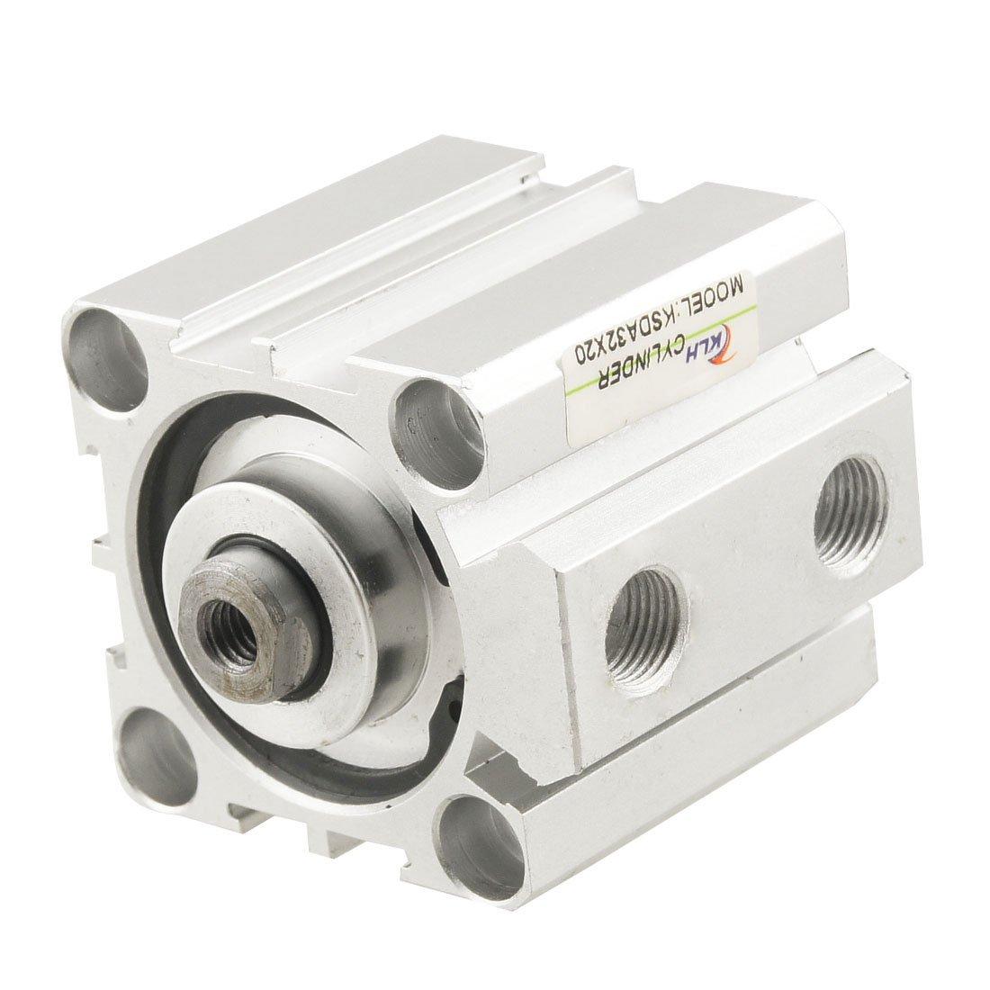 sourcingmap/® Cilindro de Aire 1,0Mpa de 32mm Di/ámetro 20mm Trazo Carrera Doble Acci/ón Efecto Miniatura