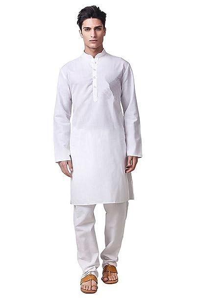 114504a9f77 Royal Kurta Mens White 100% Pure Cotton Kurta Pyjama  Amazon.in ...