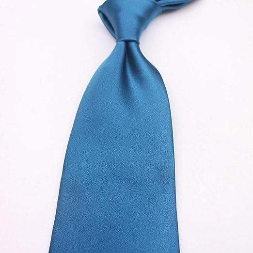 Corbata Azul del Pavo Real, Hombre Corbata De Color Sólido Negocio ...