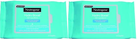 Neutrogena Hydro Boost Set de 25 toallitas hidratantes desmaquillantes para cara – Juego de 2